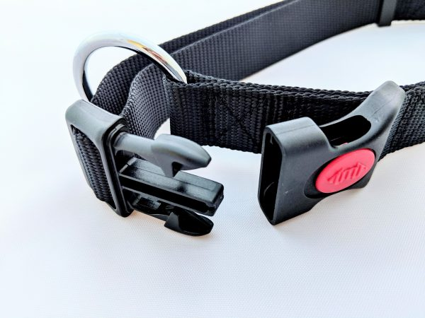 image of a black dog collar clip