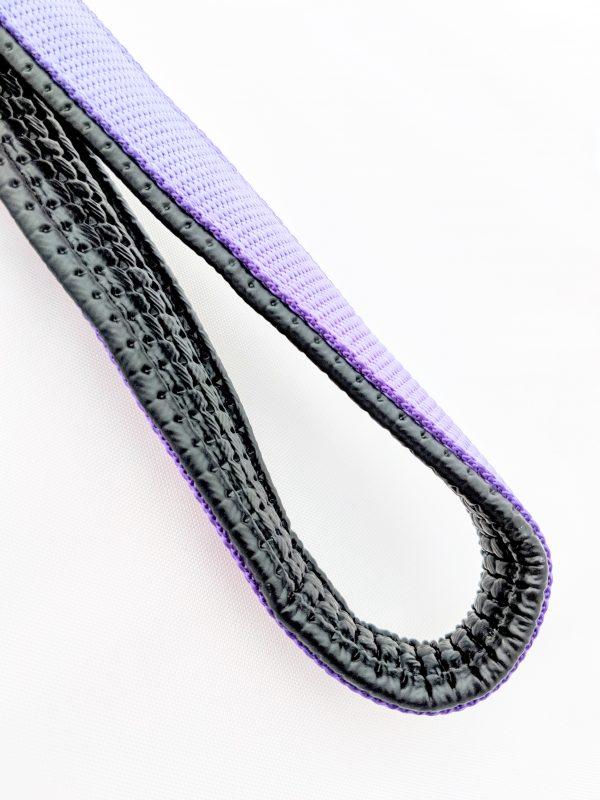 image of a purple dog lead handle