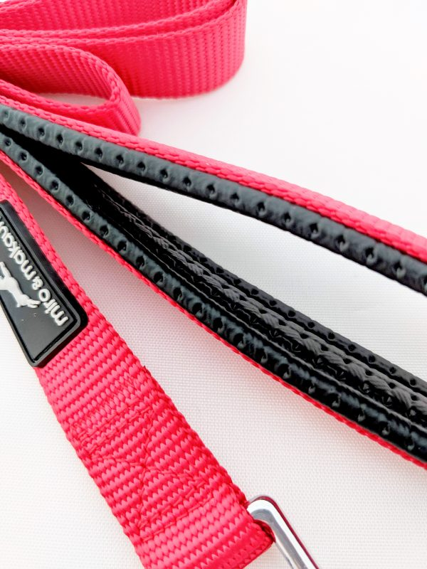 image of a red dog lead handle