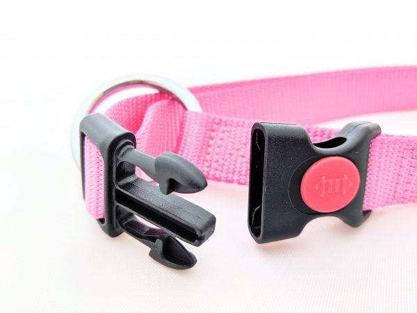 pink dog collar clasp