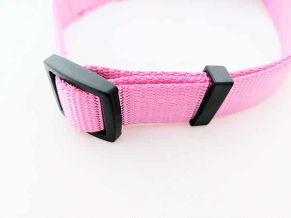 adjustable pink dog collar