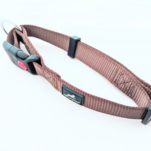 image of a brown dog collar