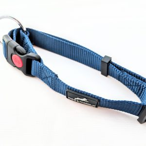 image of a navy blue dog collar