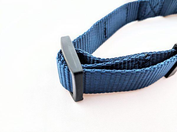 adjustable navy blue dog collar