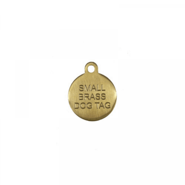 Brass Circle Tag
