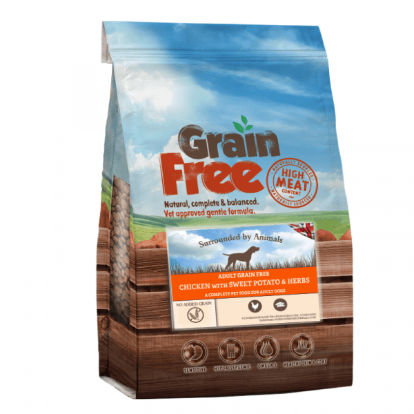 chicken flavoured grain free adult dog food
