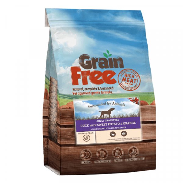 duck flavoured grain free adult dog food