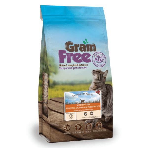 chicken & salmon flavoured grain free kitten food