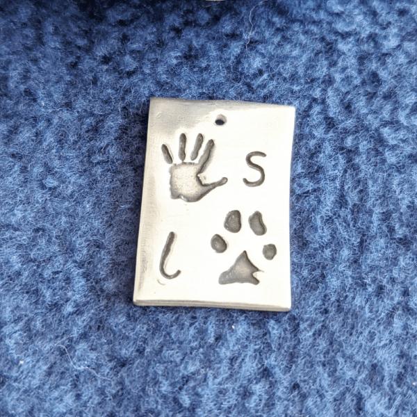 Double Paw Print Charm