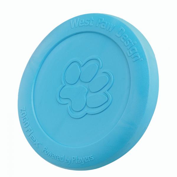 a blue coloured frisbee by zogoflex