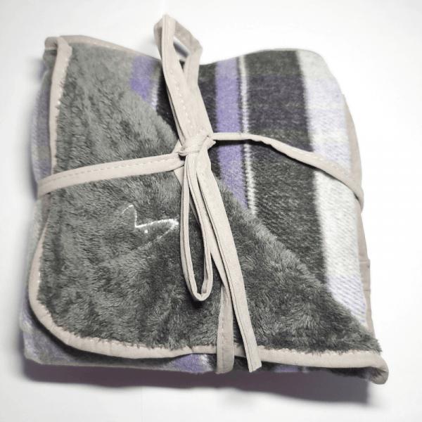 purple double sided pet blanket