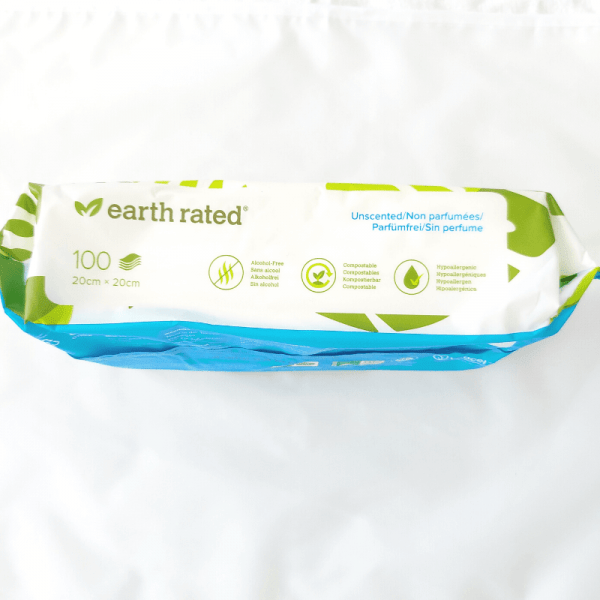 Earth Rated Compostable Dog Wipes