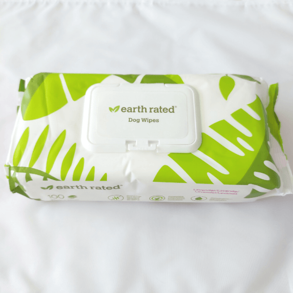 single pack of dog wipes from earth rated
