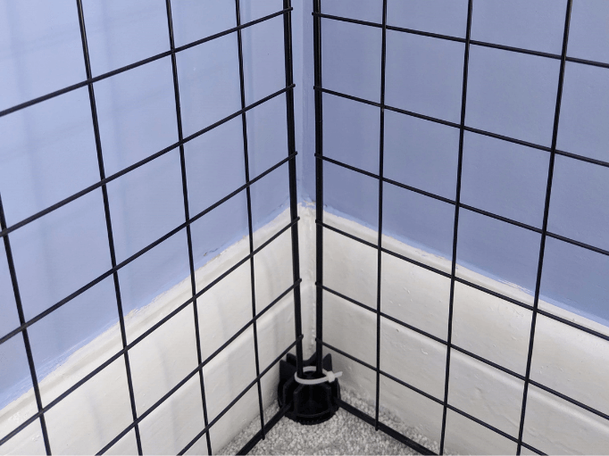 a corner of a c and c cage